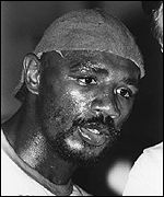 Marvin Hagler trains in 1980