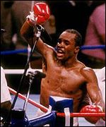 Leonard celebrates points victory against Hagler