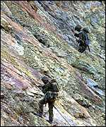 Marines on mountain exercise