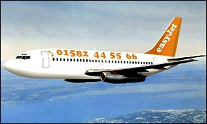 Easyjet aircraft in flight