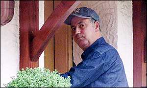 Michael Barrymore at his home