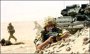 British soldiers training in Oman