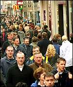 Shoppers in London