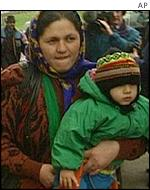 Roma woman and child