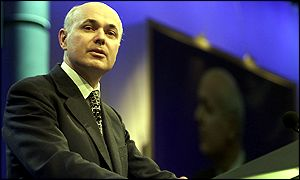 Iain Duncan Smith at the Tory conference in Blackpool