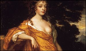 Detail from Sir Peter Lely's Countess of Oxford