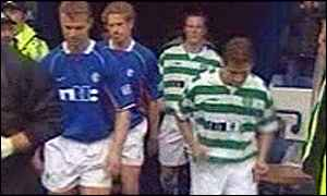 Rangers and Celtic players