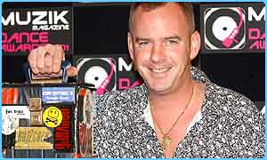Fatboy Slim collects his award for Best Video