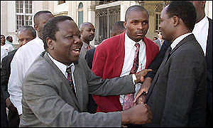 Mr Tsvangirai  (left)