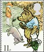 Winnie the Pooh, Christopher Robin, Piglet and Eeyore