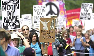 Protesters march through London