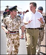 Blair with Air Vice Marshal Glenn Torpy, commander of British Forces in Oman