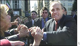 Mayor Giuliani at this month's St Columbus Day parade
