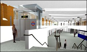 The new Western Ticket Hall  under St Pancras forecourt