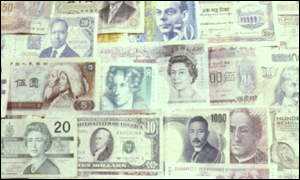 Bank notes from a variety of countries