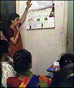 [ image: Family planning in India reaches a wide audience]