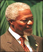 [ image: Kofi Annan: Encouraged by his conversations with African leaders]