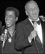 [ image: Sammy Davis Jr with Rat Pack pal Frank Sinatra]