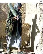 Northern Alliance fighter  in northern Afghanistan