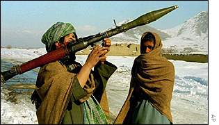 Taleban fighters heading towards Kabul, 1996