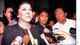 Imelda Marcos pictured in October 2001