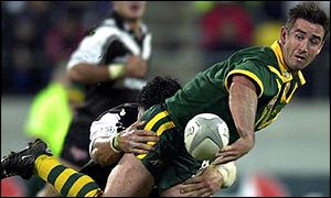 Andrew Johns in action for Australia against New Zealand