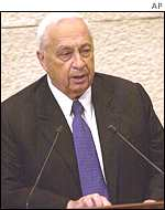 Ariel Sharon addresses parliament