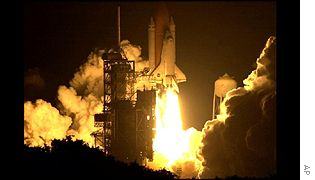 Shuttle Atlantis lifts off, AP
