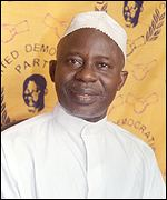 Presidential candidate of the Coalition Ousainou Darboe