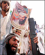 Pakistani demonstrator