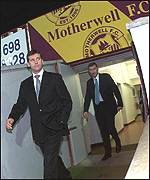 Black and Butcher stride down the Fir Park tunnel