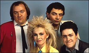 Mel Smith, Pamela Stephenson, Rowan Atkinson and Griff Rhys Jones
