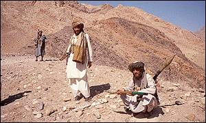 Taleban fighters near Jalalabad