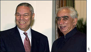 Colin Powell and Jaswant Singh