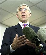 Foreign Secretary Jack Straw has to reporters on Wednesday