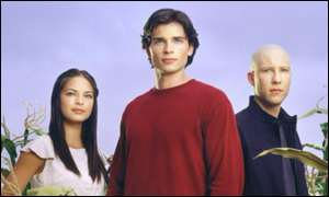 Kristen Kreuk, Tom Welling (Superman) and Michael Rosenbaum