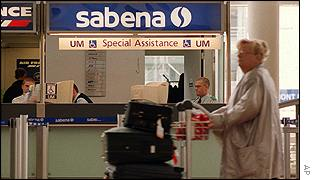 Sabena desk at airport