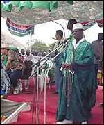 President Jammeh addresses an election rally (Pic:Jammeh.com)