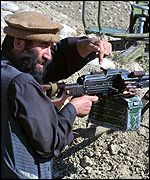 A Northern Alliance fighter near Kabul