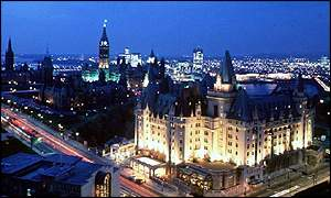 Night view of Ottawa
