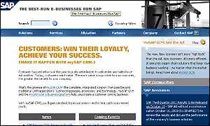 SAP front page