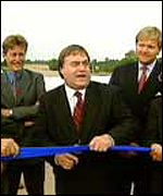 John Prescott opened the A30 in Devon