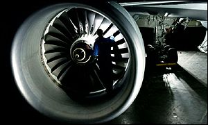 A Rolls-Royce Trent engine