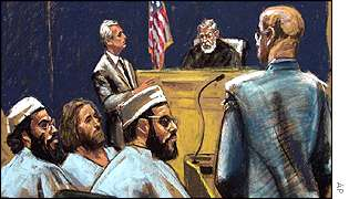 Embassy bombing defendants at a hearing on Wednesday in a Manhattan federal court