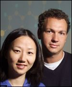 Bell Labs scientists Zhenan Bao and Hendrik Schon, creators of the molecular transistor Bell Labs