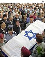 The funeral of assassinated minister Rehavam Zeevi