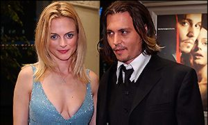 Heather Graham and Johnny Depp