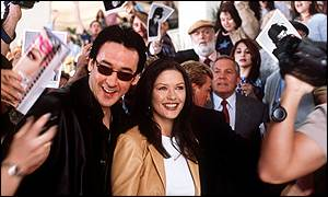 Cusack and Zeta-Jones (photo by Melinda Sue Gordon, PA)