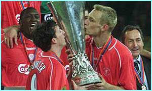 Liverpool win the Uefa Cup