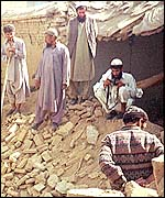 Khair Khana bomb site